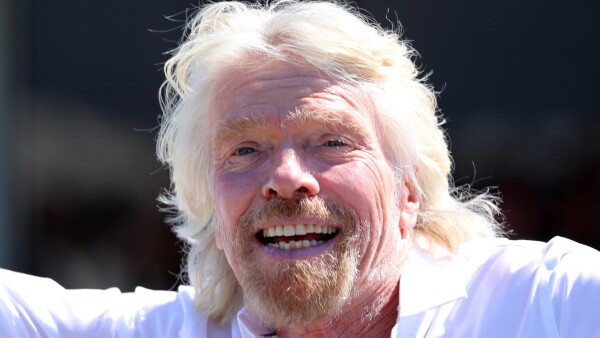 Branson arrives to be inducted into the Flight Path Walk of Fame in Los Angeles