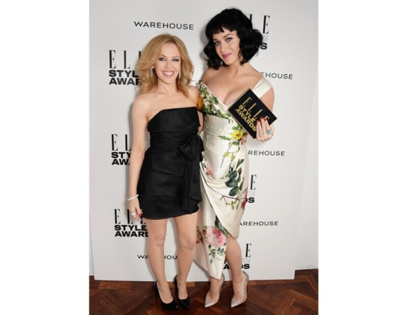 Kylie Minogue fue la encargada de entregar el reconocimiento a Katy Perry.
