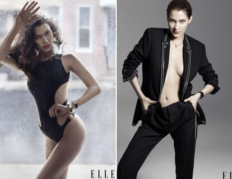 Bella logró una portada en ELLE USA antes que su hermana, Gigi.