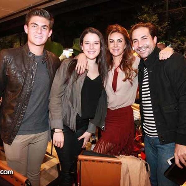Nicolás Saad,Jimena y Alejandra Fountanet con Luis Carlin
