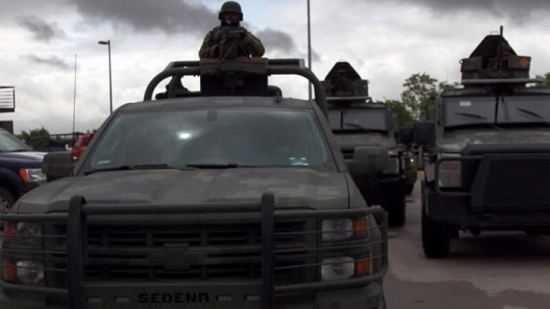 Elementos de la Secretaría de la Defensa Nacional durante un operativo de seguridad en Reynosa, Tamaulipas
