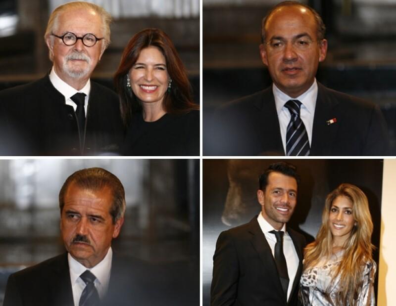 Durante la inauguración de su exposición en Bellas Artes, Fernando Botero estuvo acompañado de su hija Lina; además de Felipe Calderón, José Ángel Córdova, Federico Díaz y Nunzia Rojo de la Vega.