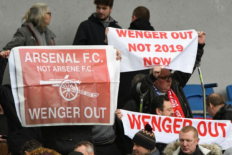 Arsene Wenger out