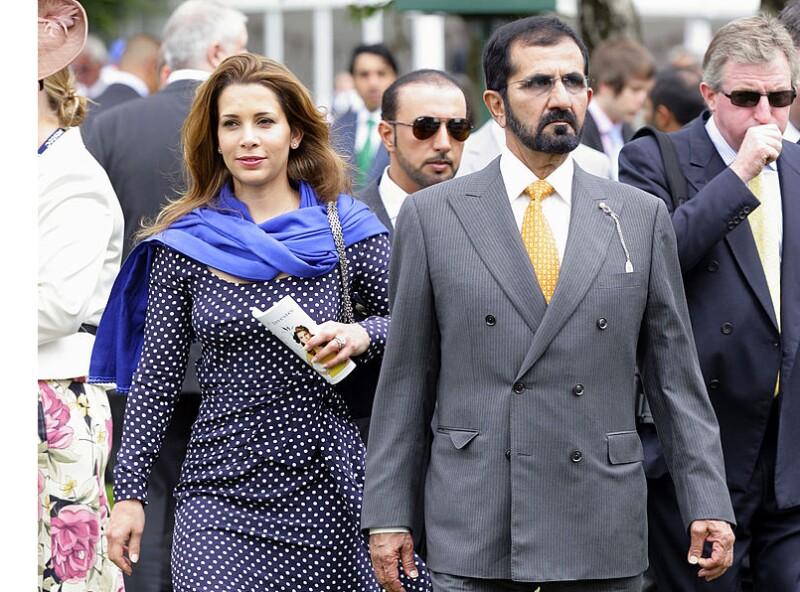 princesa Haya de Jordania y Mohamed Bin Rashid