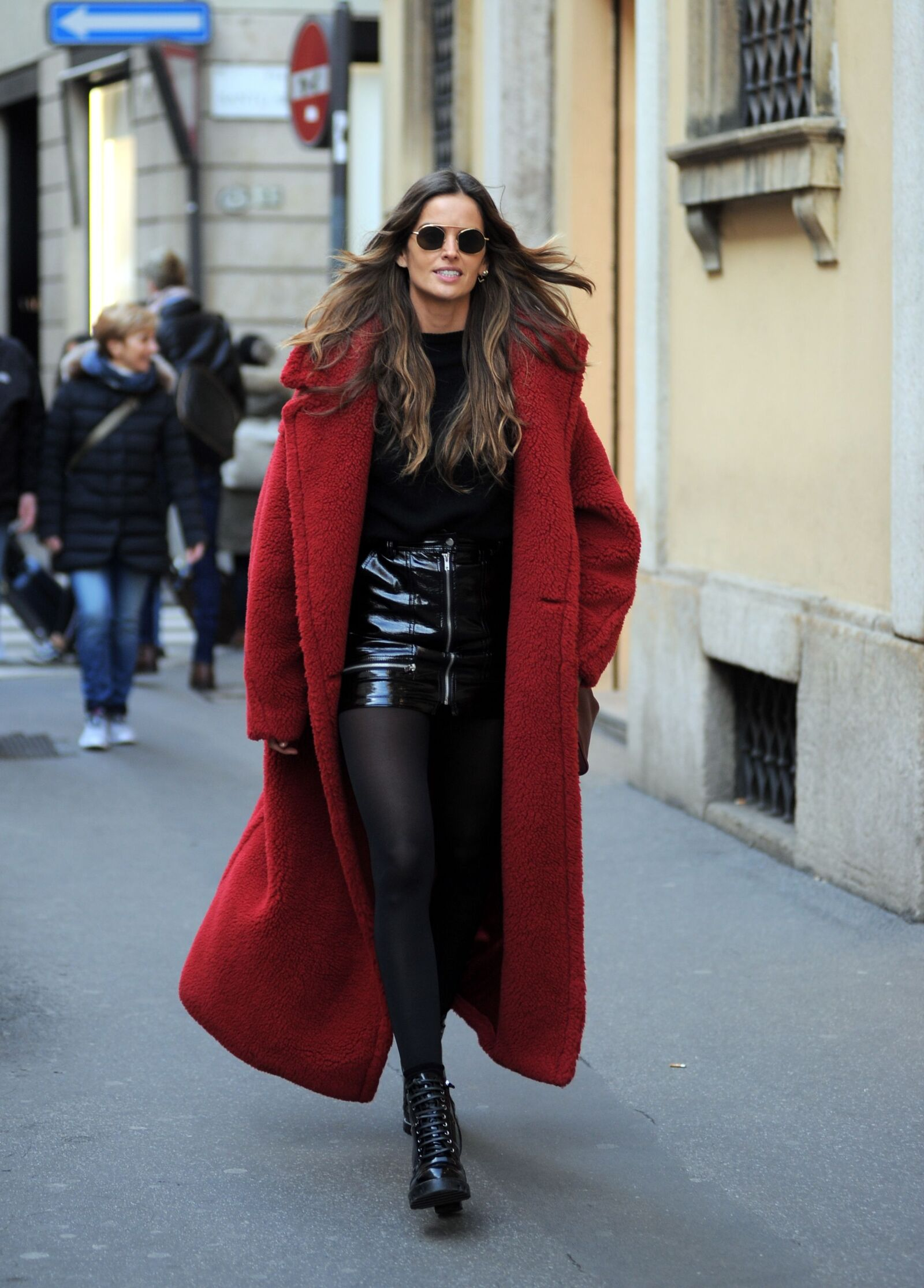 Izabel Goulart out and about, Milan, Italy - 24 Feb 2018