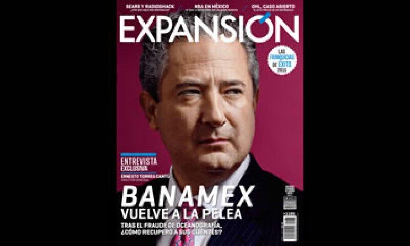 Expansión presenta en esta edición una entrevista con el director de Banamex. (Foto: Jesús Almazán)