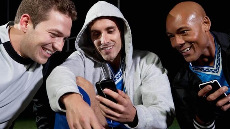 amigos, futbol, tecnologia, gadgets, video, smartphone
