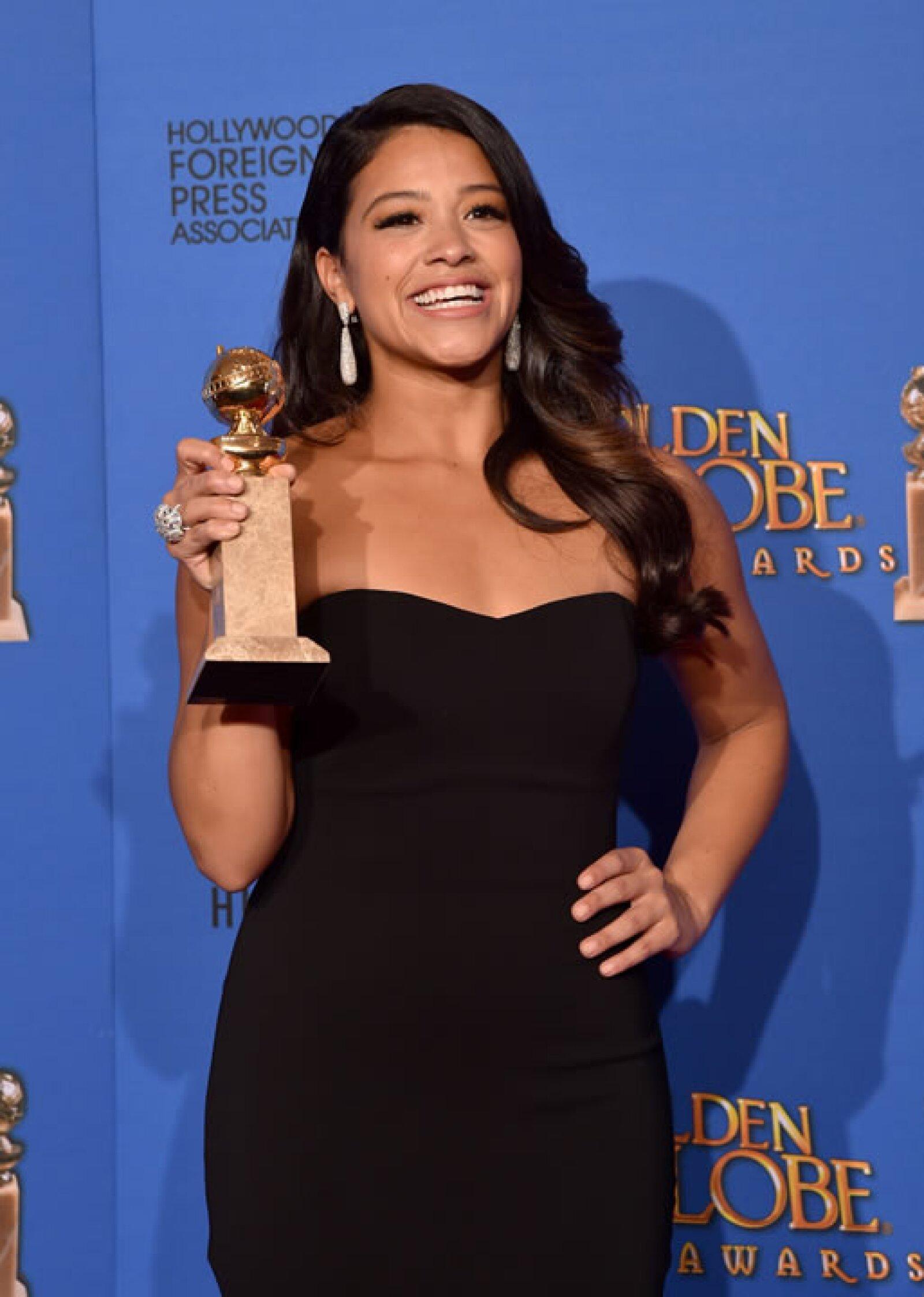 La Mejor actriz de comedia en televisión fue Gina Rodriguez con Jane The Virgin.