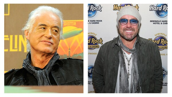 Jimmy Page y Jason Bonham