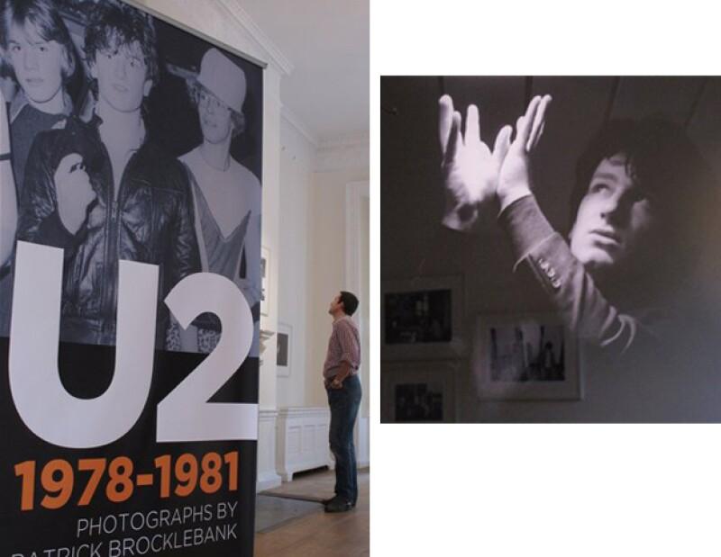 """Imágenes que documentan los inicios del grupo en los bares, se develaron el jueves en la exposición titulada """"U2 1978-1981"""". La mayoría de las imágenes son del fotógrafo Patrick Brocklebank."""