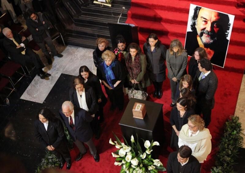 El evento estuvo abierto al público para que pudieran despedirse del reconocido actor.