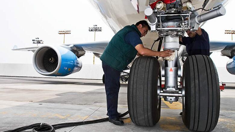 Los aviones suelen tener el mayor desgaste en el tren de aterrizaje que en otras partes.