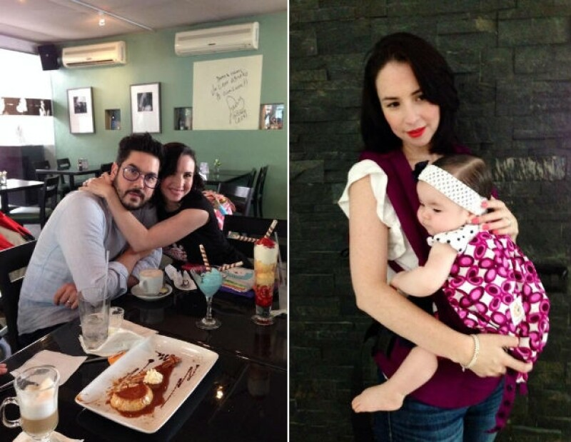 Andrea Torre vive la felicidad junto a su esposo Pedro y su hija Regina.