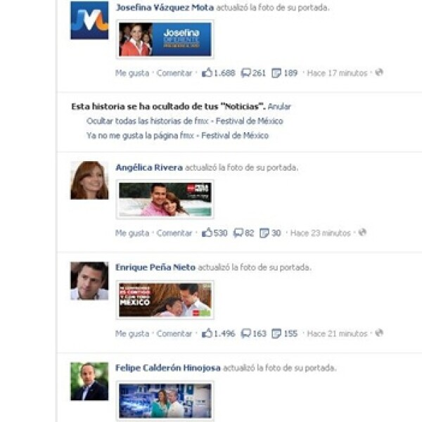 candidatos redes sociales facebook twitter