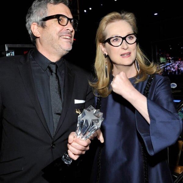 Alfonso Cuarón y Meryl Streep.