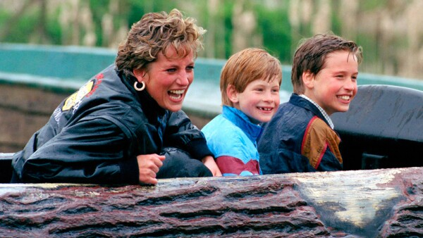 princesa diana, william y harry