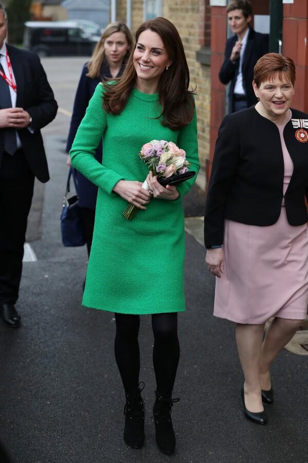 Kate Middleton en vestido verde