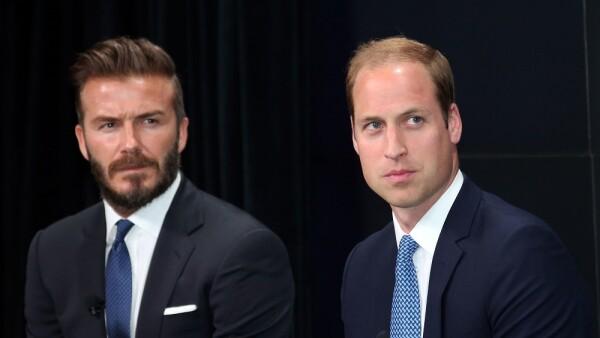 David Beckham y el príncipe William