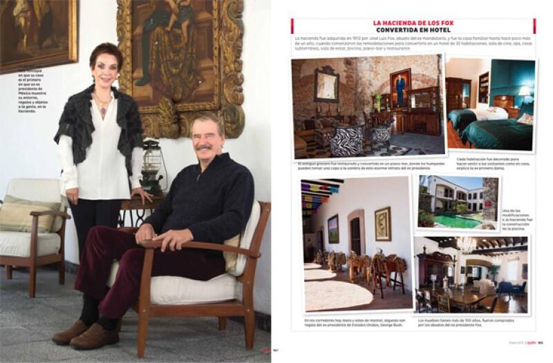 La pareja nos hizo hincapié en que su caso es el primero en que un ex presidente de México muestra su entorno, regalos y objetos a la gente, en la hacienda.