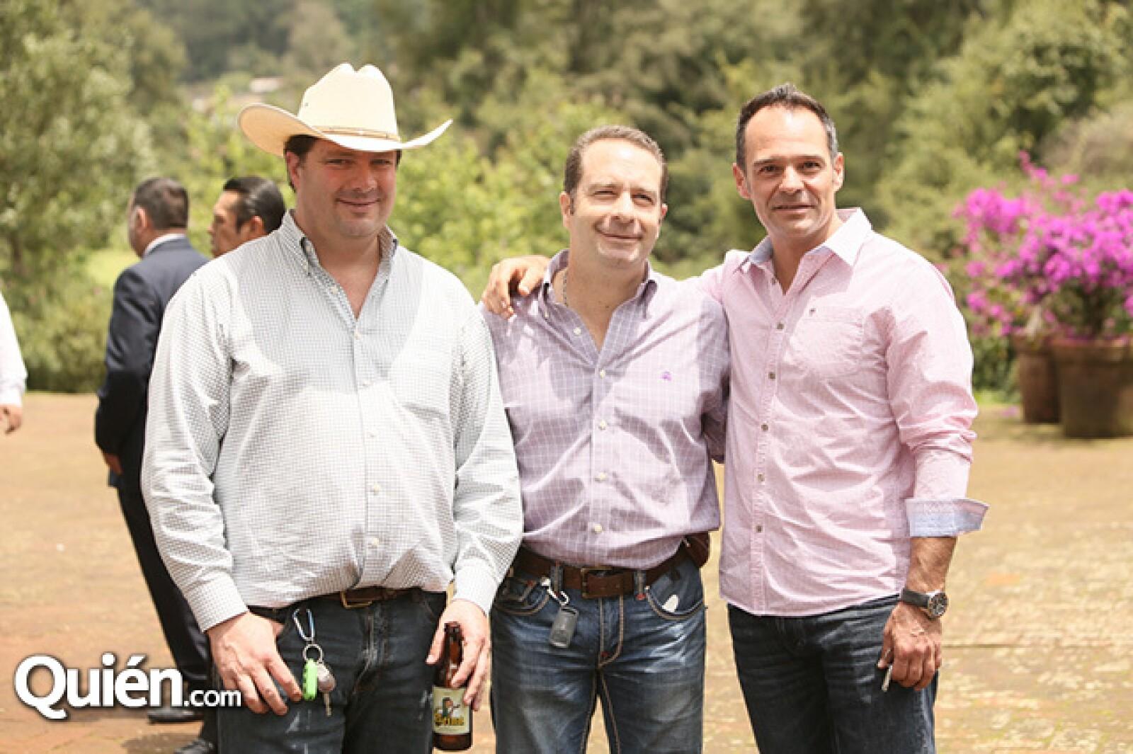 Carlos Roel, Rodrigo Roel y Waldemar Franco