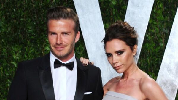 Mr y Mrs Beckham fueron una de las parejas más atractivas de la noche.