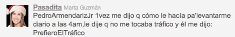 Martha Guzmán compartió una anécdota.