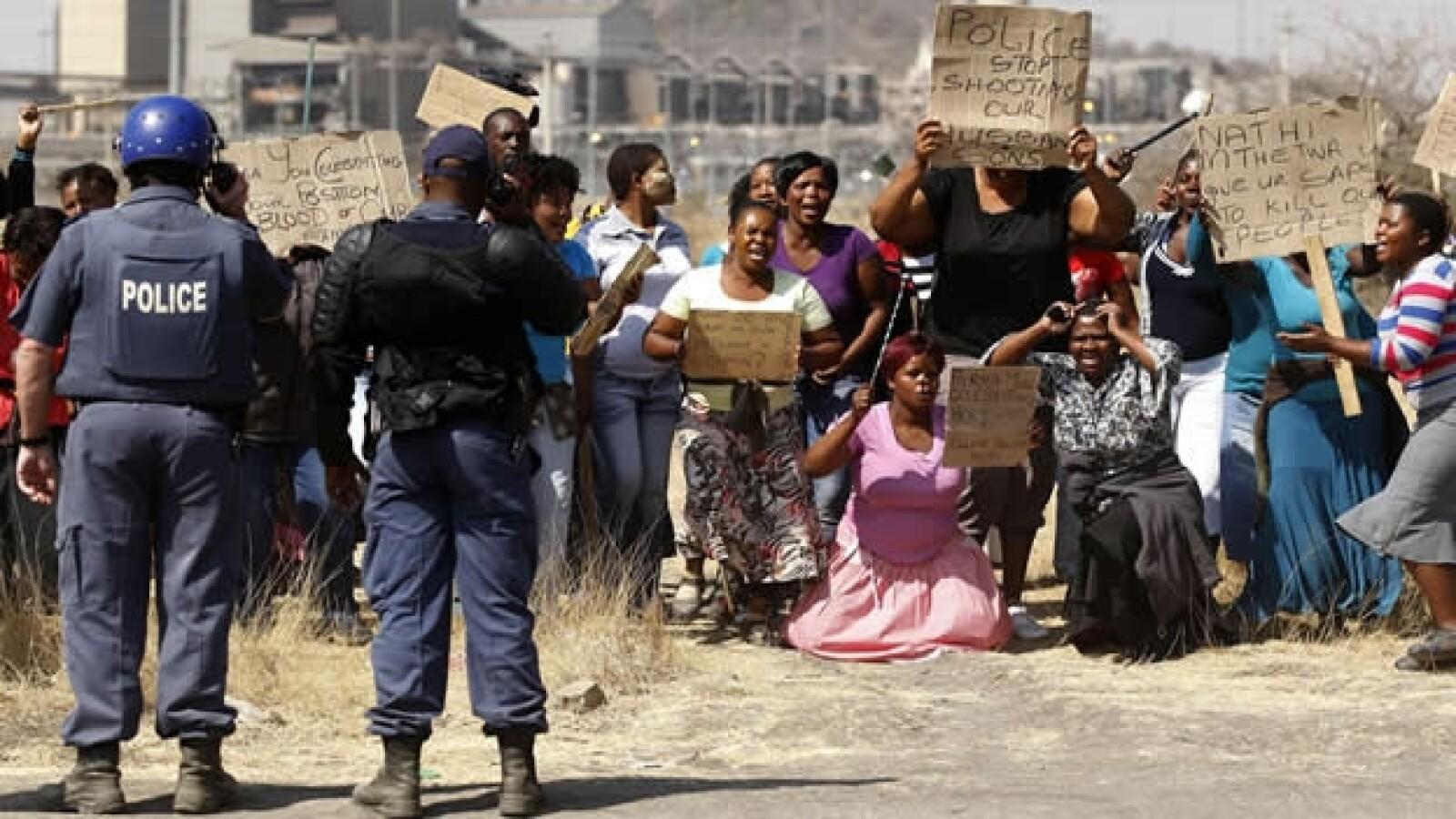 Sudáfrica protestas mineros 1
