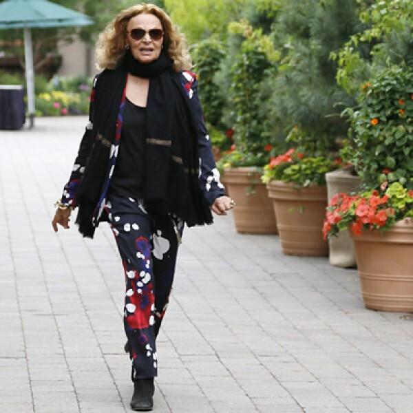 La diseñadora de modas Diane von Furstenberg mostró sus creaciones en la reunión anual de Idaho.