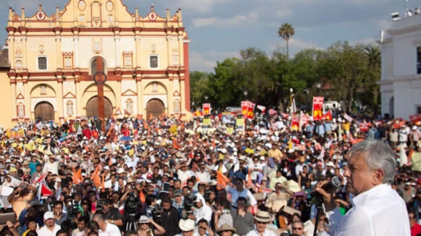 Mitin de Lopez Obrador en San Cristobal de las Casas