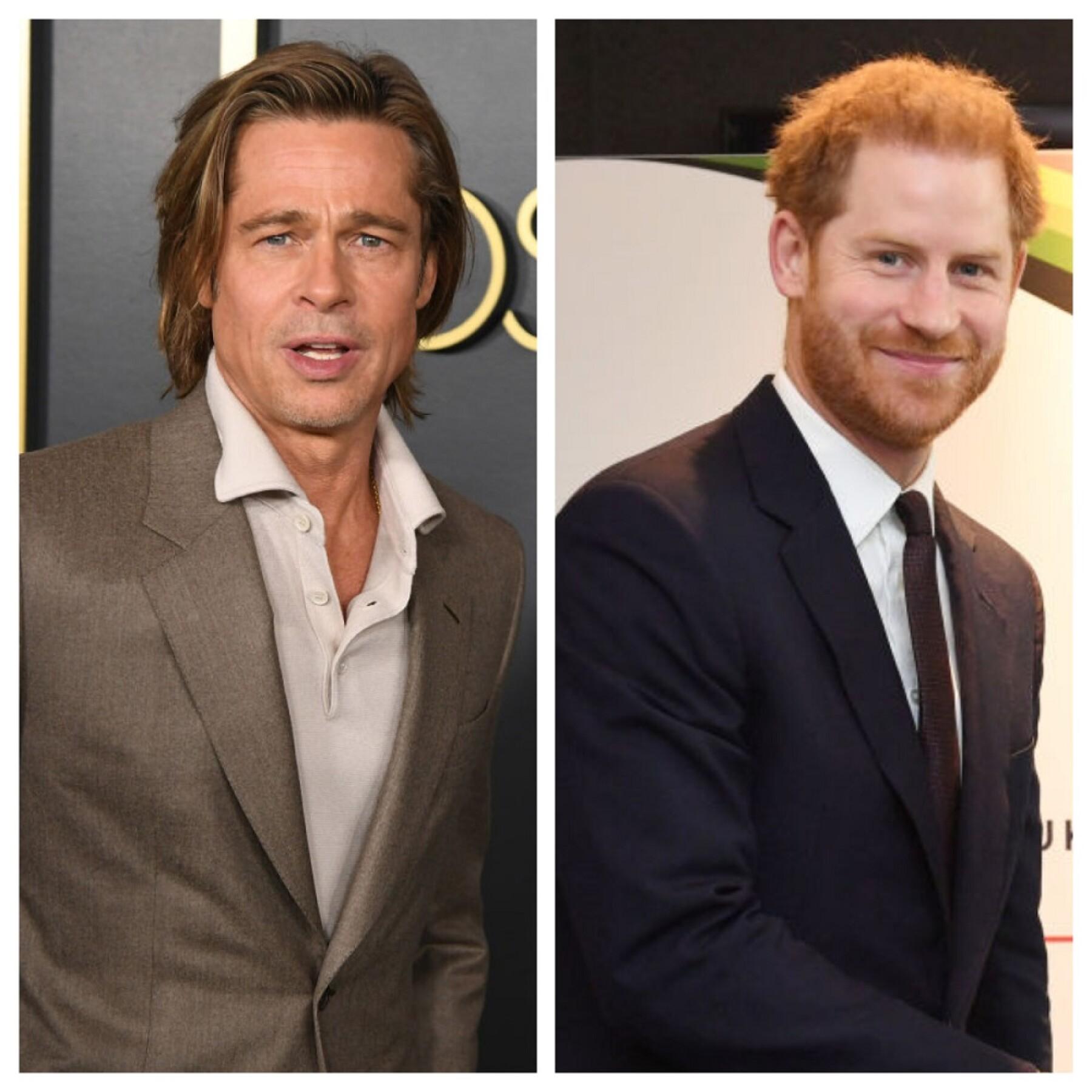 Brad Pitt y el príncipe Harry