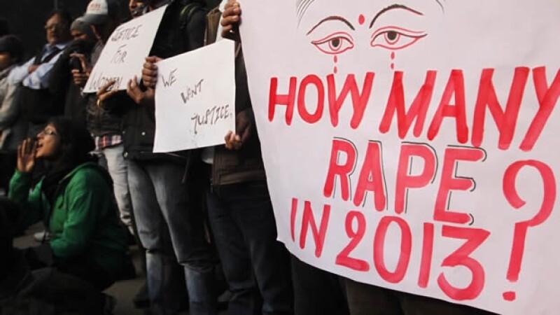 India violaciones protesta