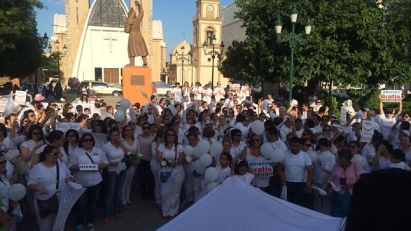Cientos de personas se manifestaron públicamente para pedir paz y tranquilidad en Reynosa, Tamaulipas