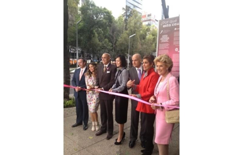 En el corte de listón estuvieron presentes Issabela Camil, Pedro Torres, Gaby de la Garza, el director general de Expansión, Manuel Rivera, Daniela Romo y Viviana Corcuera.