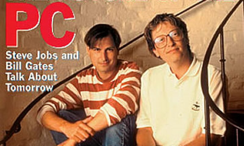 Jobs y Gates fueron en ocasiones feroces competidores, y en otras aliados clave. (Foto: Cortesía Fortune)