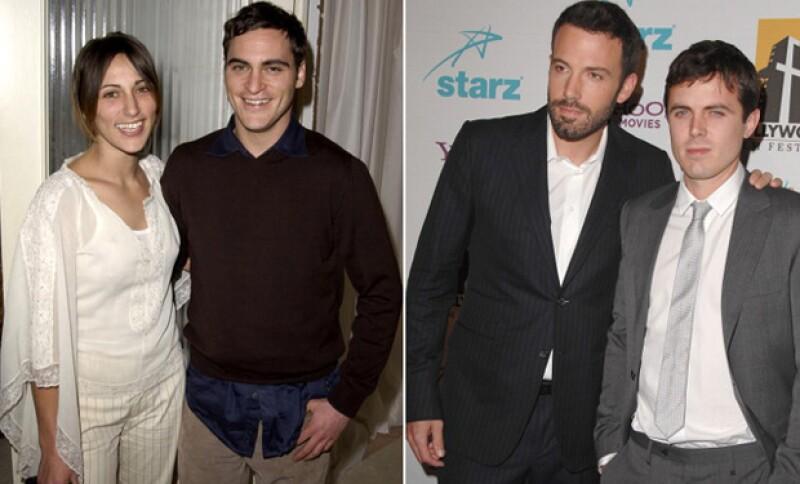 La pareja pertenece a familia ya relacionada con grandes actores de Hollywood como Joaquin Phoenix y Ben Affleck.