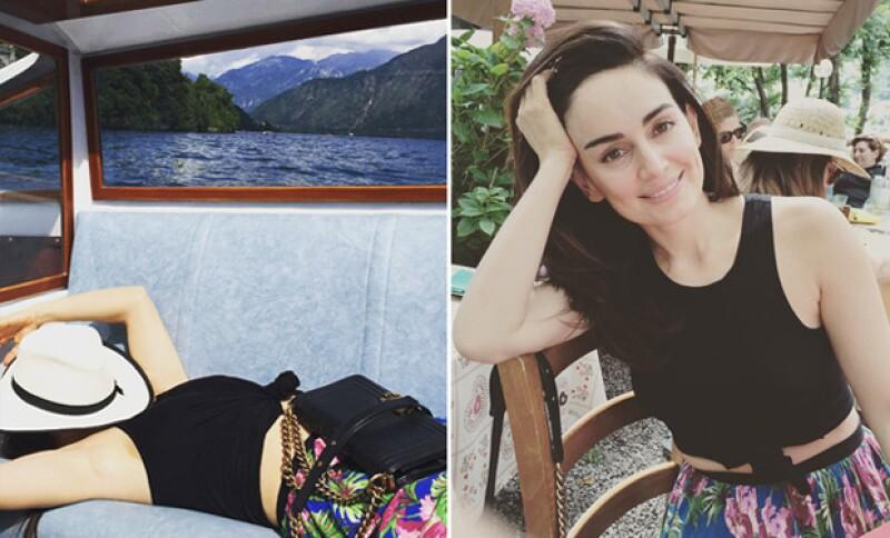Durante su viaje, dejó ver lo enamorada que está de su novio, el chef Mario Carbone.