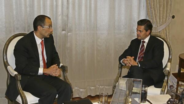 La visita oficial del empresario brasileño Marcelo Odebrecht a la entonces Residencia Oficial de Los Pinos