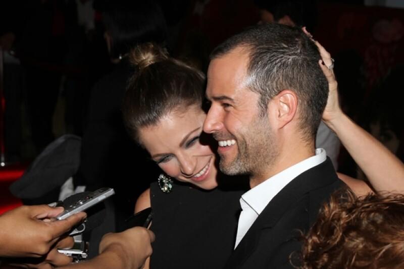 Ludwika y Emiliano estuvieron muy amorosos durante la premiere.