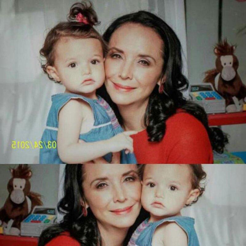 Varios de los fans de Mayra tuitearon en honor a Luciana con algunas fotografías de la pequeña y la actriz juntas.