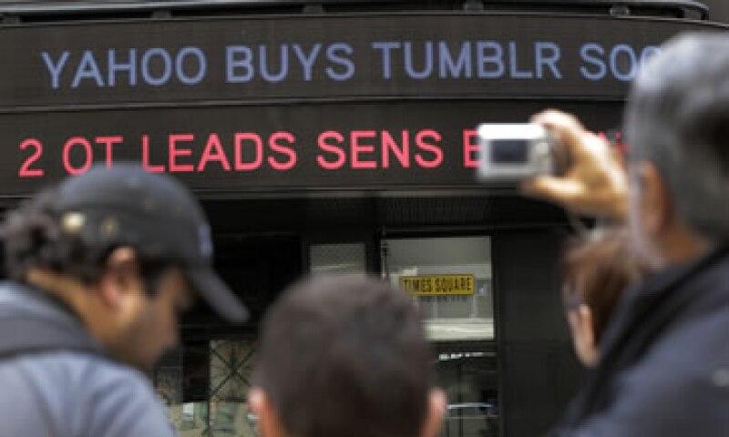 Yahoo compró Tumblr por 1,100 millones de dólares. (Foto: AP)