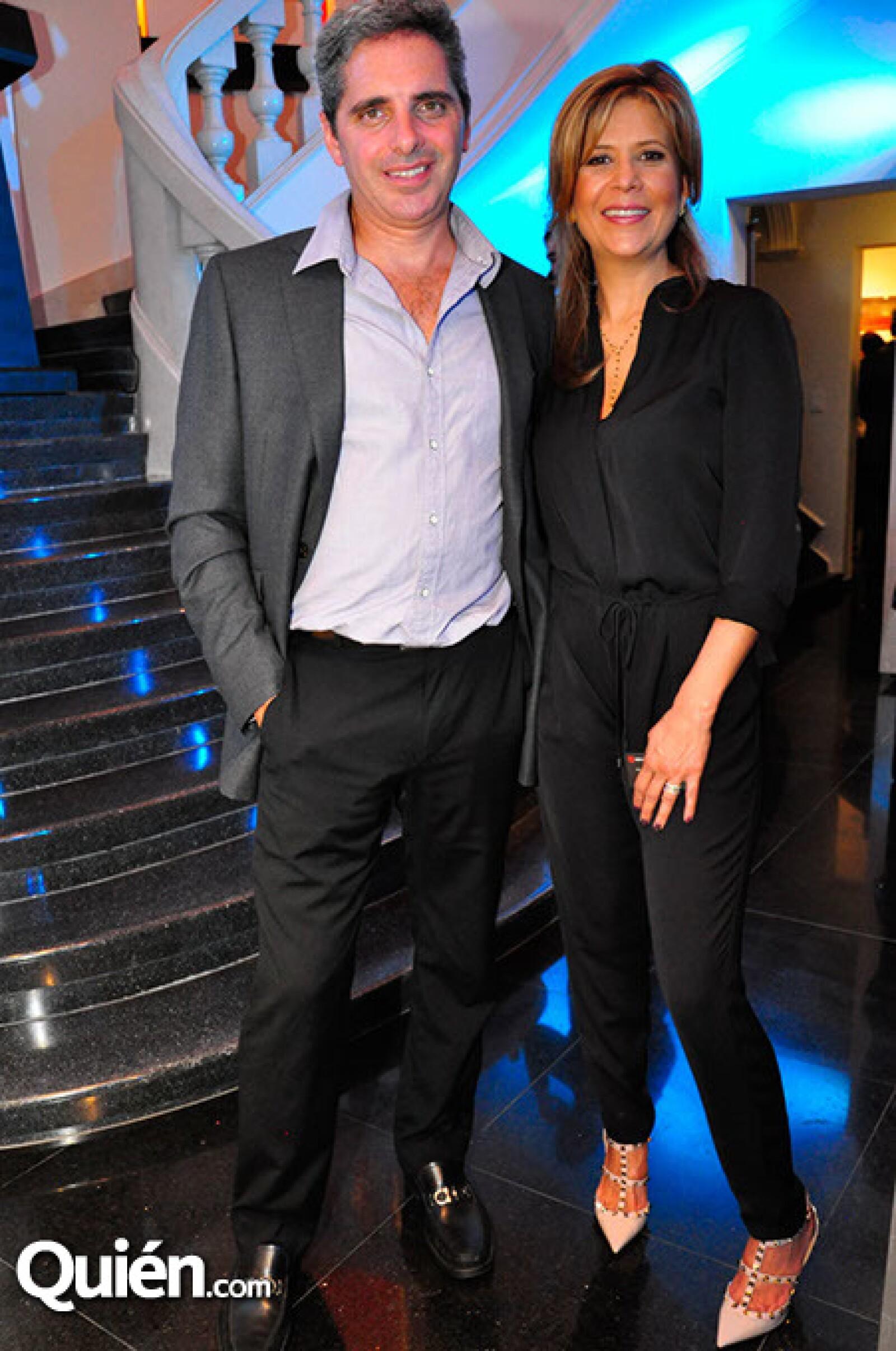 Luciano Gerbilsky y Claudia Grajales