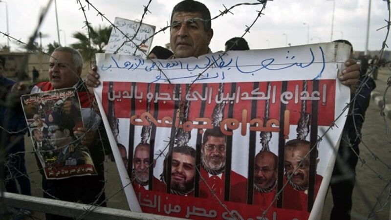 Un simpatizante de Mohamed Morsi