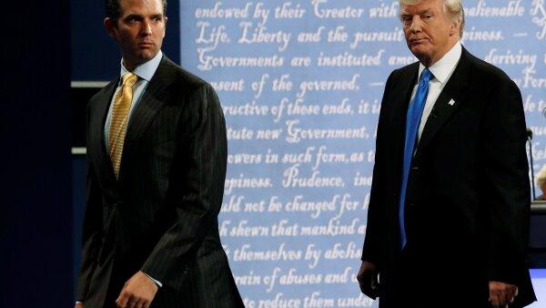 Trump y Trump Jr.