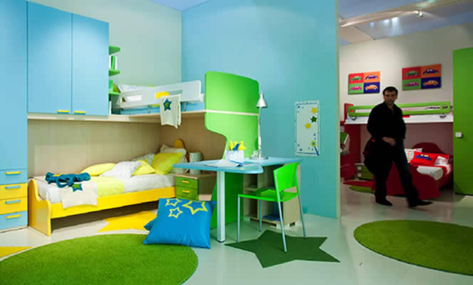 Los expositores mostraron líneas de muebles para los niños.
