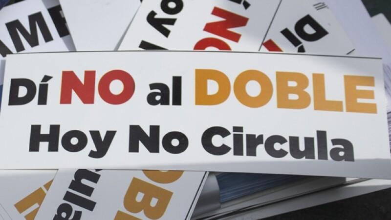 doble, sabatino, hoy no circula, protesta
