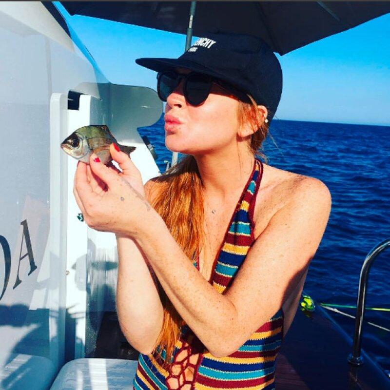 La actriz publicó esta foto como parte de su viaje, y hasta ahora se ha negado a hablar de su embarazo.