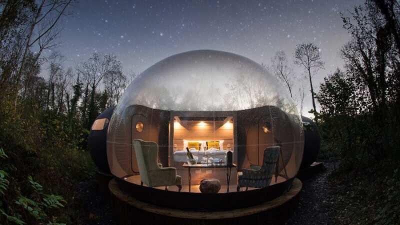 Finn Lough's Bubble Domes (Irlanda del Norte)