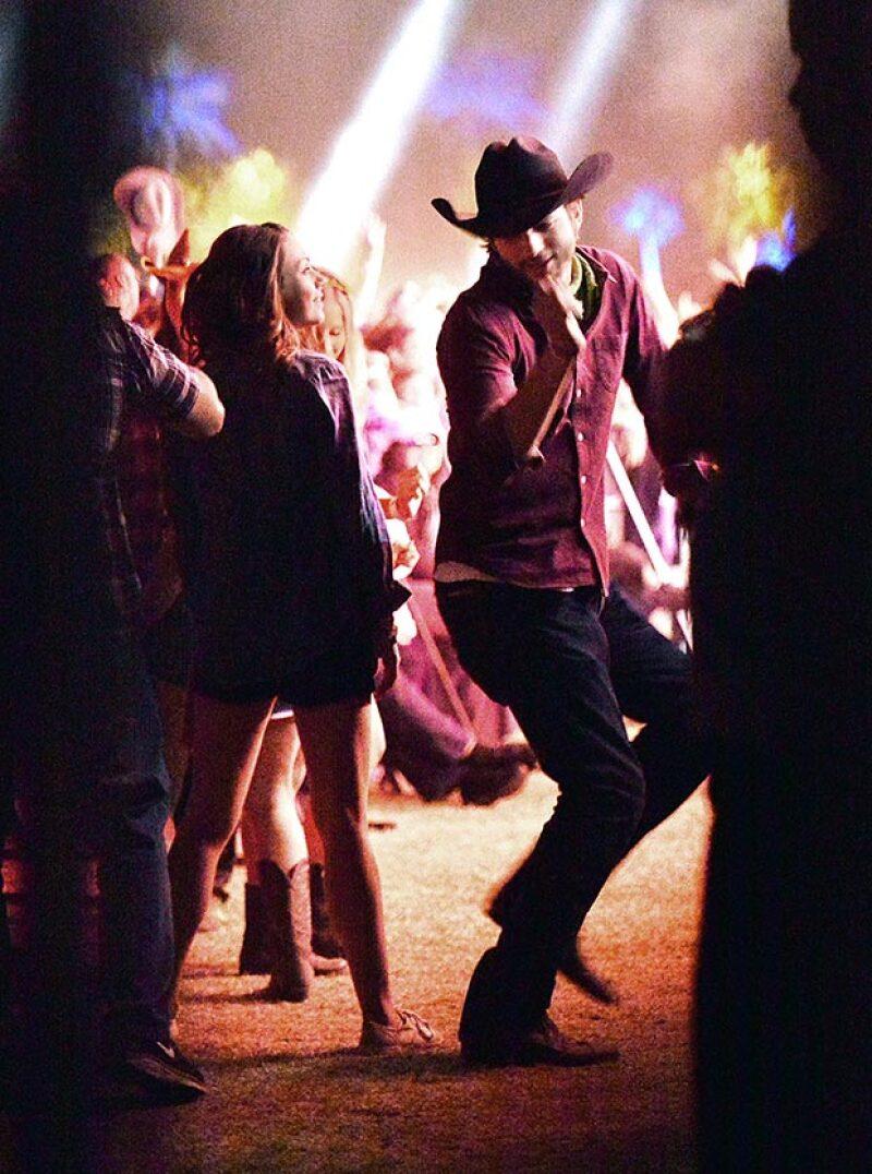 El más emocionado fue Ashton, quien disfrutó bailando su música favorita.