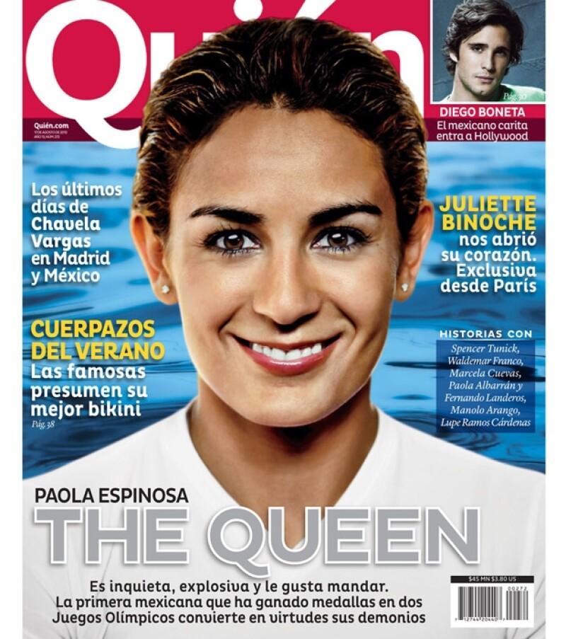 La clavadista mexicana puso en alto el nombre del país estas pasadas Olimpiadas y por ello la revista Quién la trae en portada.
