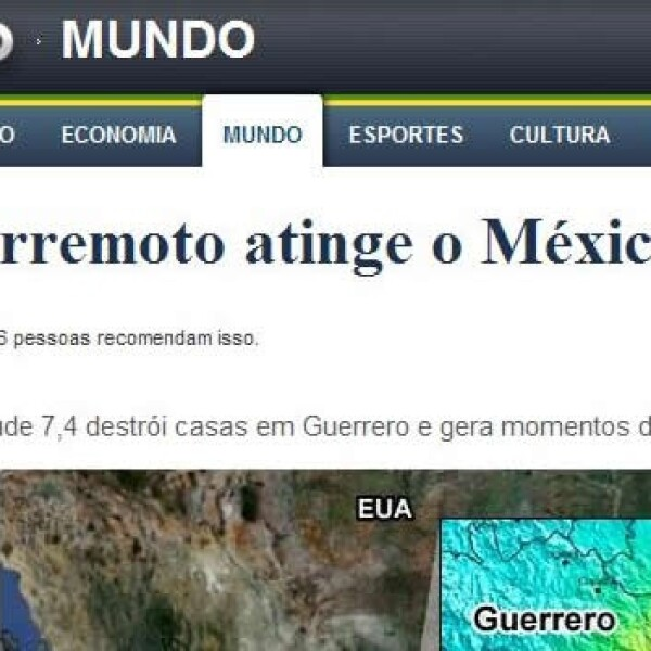 Portales temblor Globo